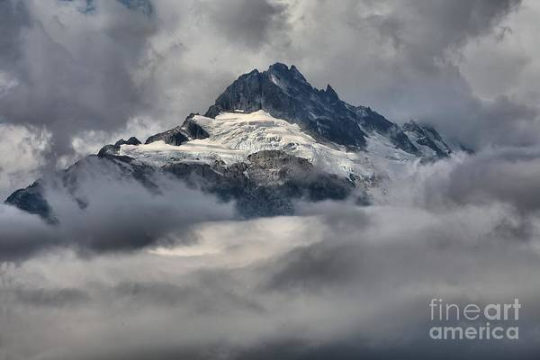 Photograph - Glaciers Through The Clouds by Adam Jewell