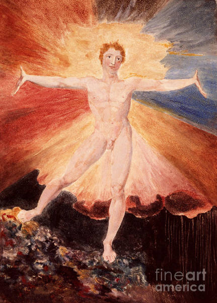 Masculine Painting - Glad Day Or The Dance Of Albion by William Blake