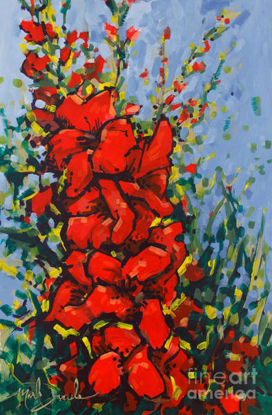Gladiolus Painting - Glad Gathering by Mark Daniels