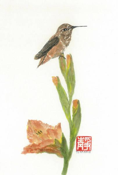 Wall Art - Painting - Glad Hummingbird  by Terri Harris