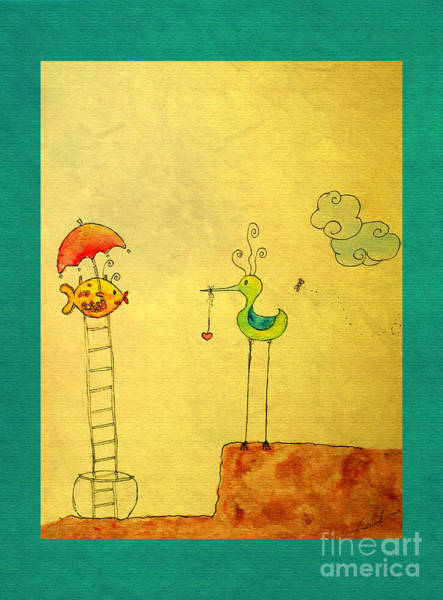 Wall Art - Painting - Glad Meeting You by Aimelle