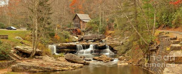Photograph - Glade Creek Grist Mill Panorama by Adam Jewell
