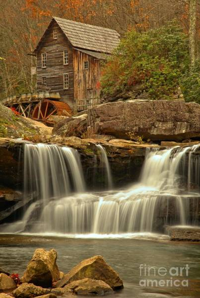 Photograph - Glade Creek Grist Mill Portrait by Adam Jewell