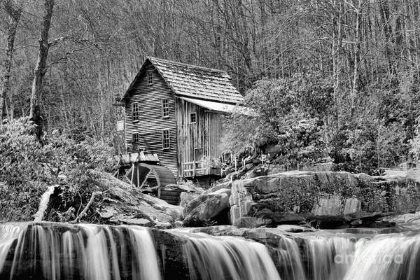Photograph - Glade Creek In Black And White by Adam Jewell