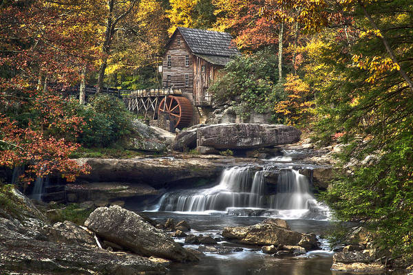 West Virginia Photograph - Glade Creek Mill by Robert Fawcett