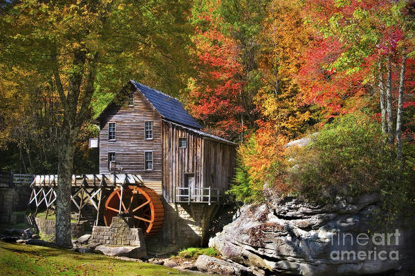 Textile Mill Photograph - Glade Creek Mill by T Lowry Wilson