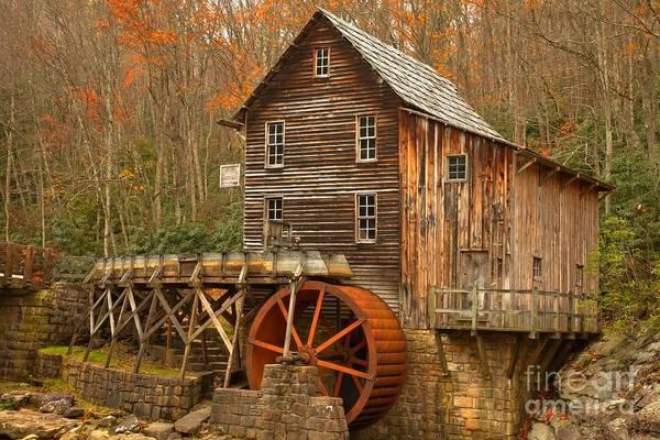 Photograph - Glade Creek Water Wheel by Adam Jewell