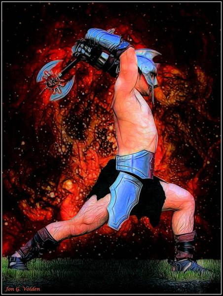 Painting - Gladiator by Jon Volden