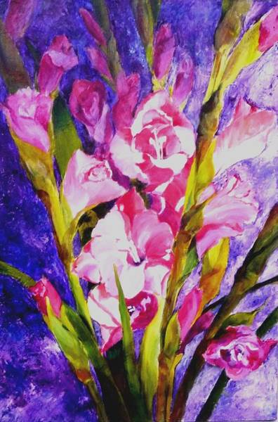 Gladiolus Glamour Art Print