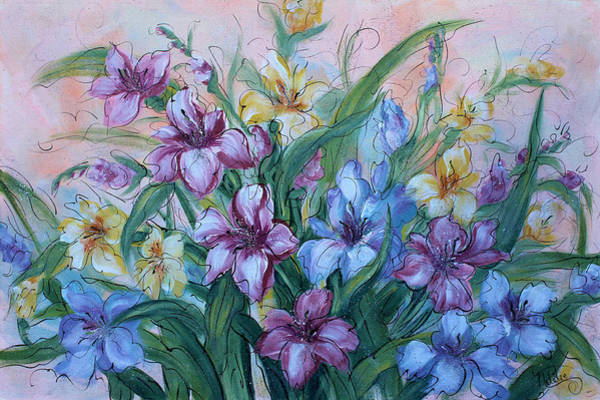 Gladiolus Painting - Gladiolus by Natalie Holland