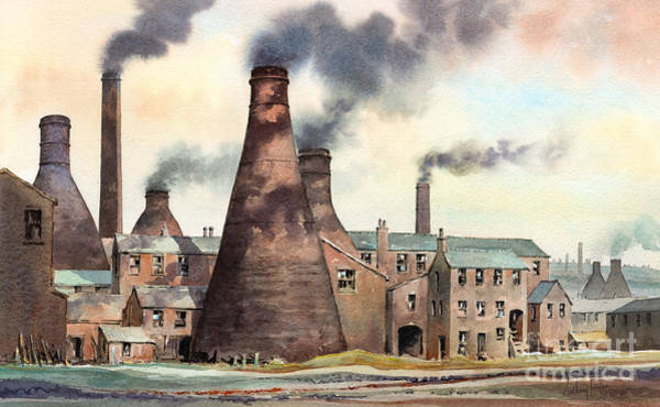 Wall Art - Painting - Gladstone Pottery Works by Anthony Forster