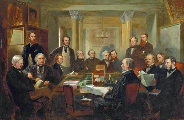 Gladstone Wall Art - Painting - Gladstone's Cabinet Of 1868 by MotionAge Designs