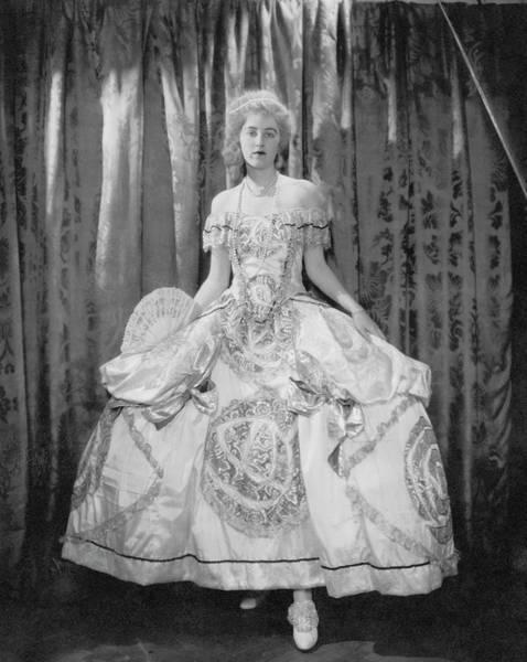 Wall Art - Photograph - Gladys Kane In A Hoop Skirt Costume by Edward Steichen