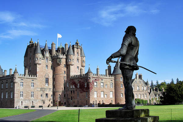 Photograph - Glamis Castle With Statue by Jason Politte
