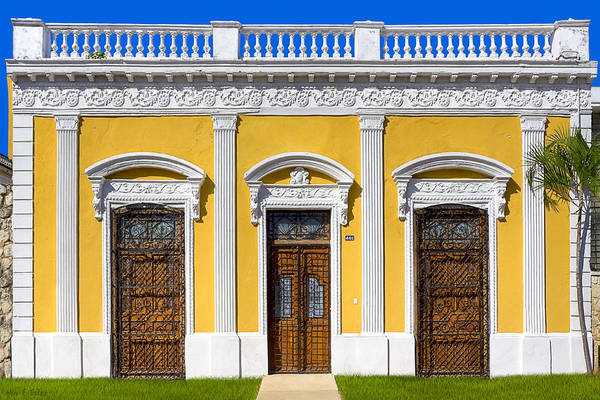 Greek Revival Architecture Photograph - Glamorous Architecture On Paseo De Montejo - Merida by Mark Tisdale