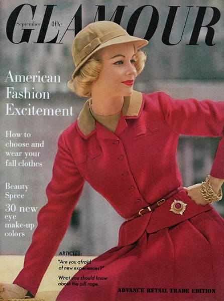 Photograph - Glamour Cover Featuring Sandra Wright by Sante Forlano