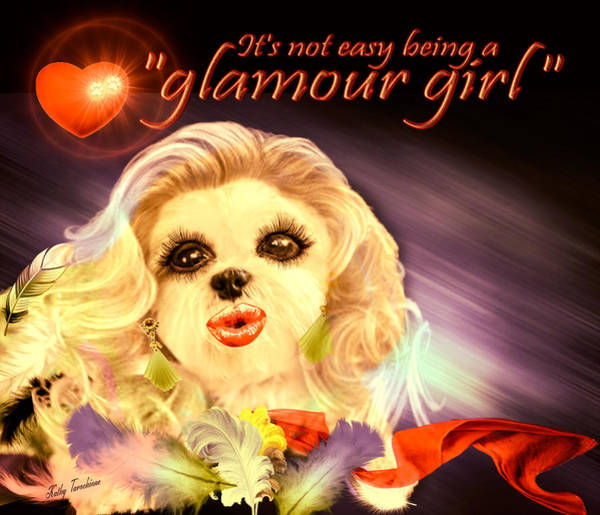 Digital Art - Glamour Girl-1 by Kathy Tarochione