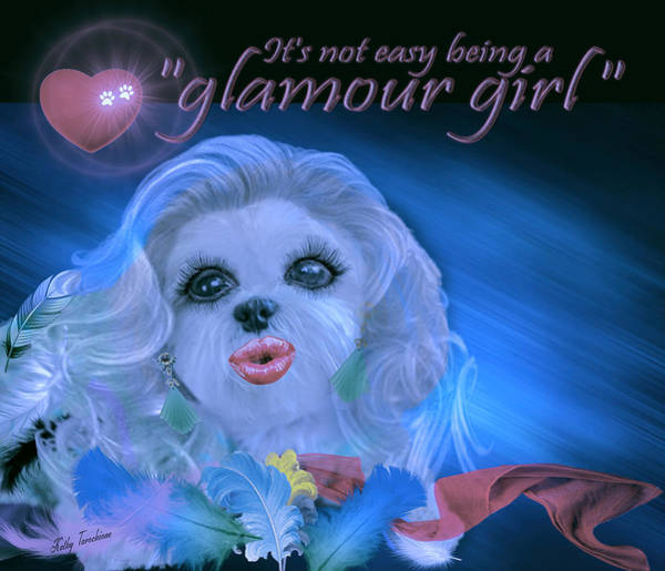 Digital Art - Glamour Girl-2 by Kathy Tarochione