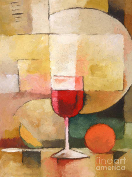 Painting - Glass Of Red by Lutz Baar