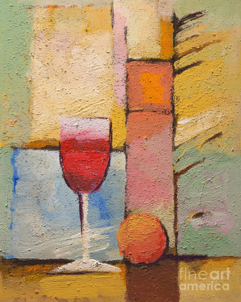 Painting - Glass Of Wine by Lutz Baar