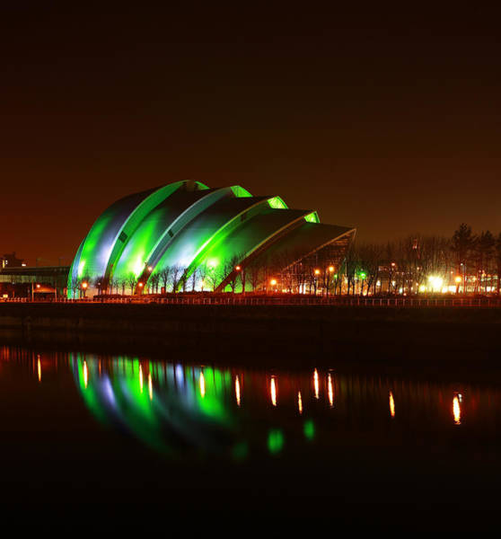 Photograph - Glasgow Armadillo In Green Light by Maria Gaellman