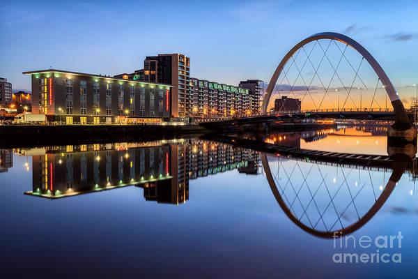 Clyde Photograph - Glasgow Clyde Arc  by John Farnan