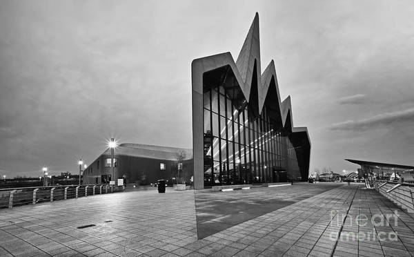 Photograph - Glasgow Riverside Transport Museum by Maria Gaellman