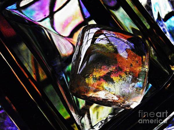 Light Box Photograph - Glass Abstract 314 by Sarah Loft