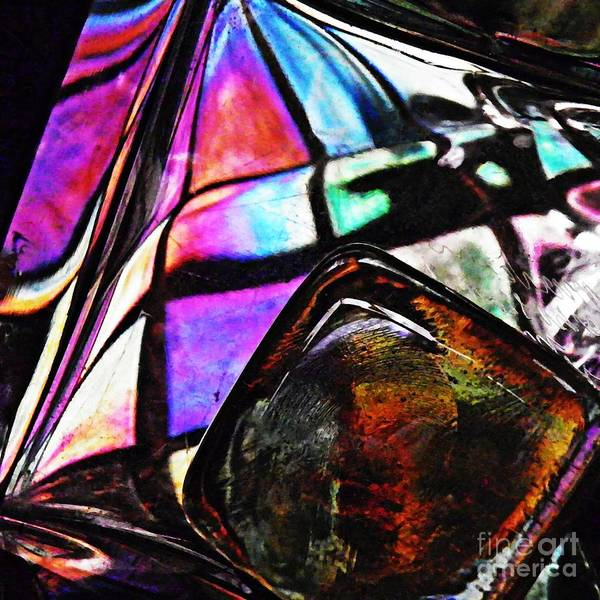 Light Box Photograph - Glass Abstract 316 by Sarah Loft