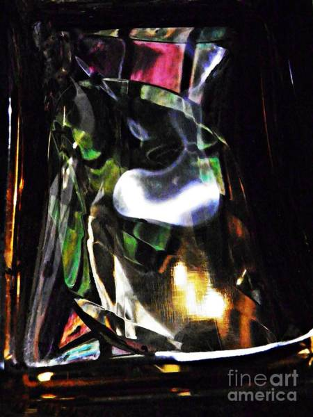 Light Box Photograph - Glass Abstract 323 by Sarah Loft