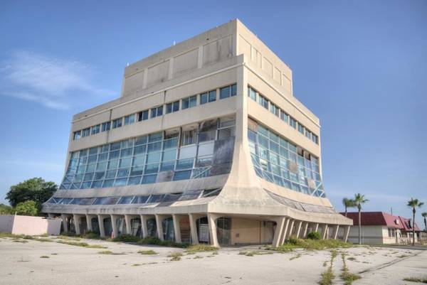 Photograph - Glass Bank In Cocoa Beach-abandoned by Bradford Martin