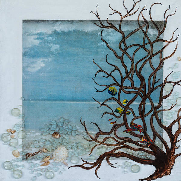 Broom Mixed Media - Glass Beach by Dawn Broom