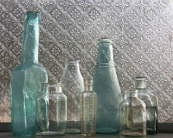 Photograph - Glass Bottles 2 by Jocelyn Friis