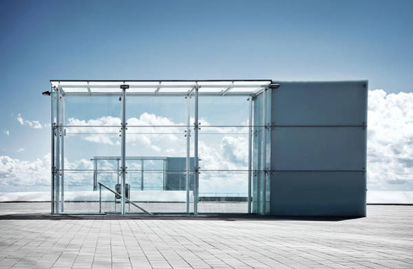 Entrance Photograph - Glass Building by Nikada