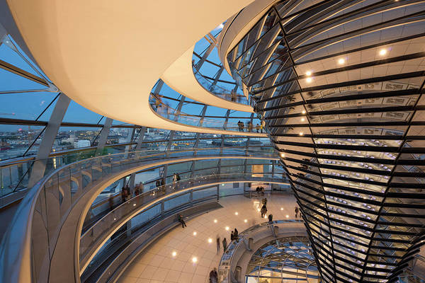 Norman Photograph - Glass Dome Interior, Reichstag by Stephen Spraggon