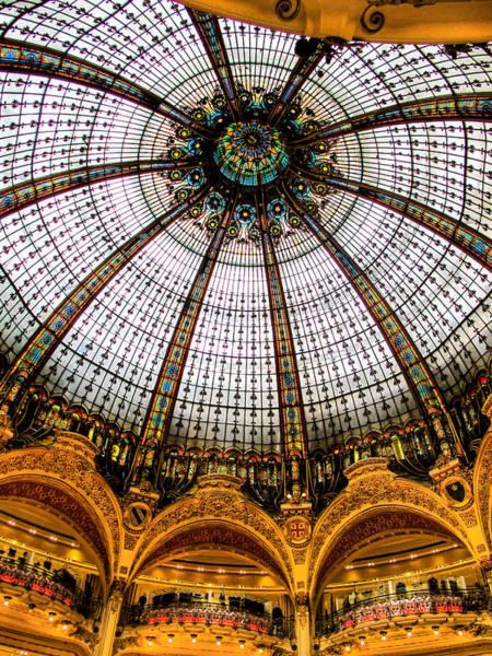 Galeries Lafayette Photograph - Glass Dome Lafayette Galeries by Jim Pruett