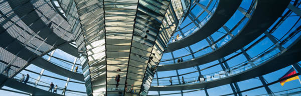 Rotunda Photograph - Glass Dome Reichstag Berlin Germany by Panoramic Images