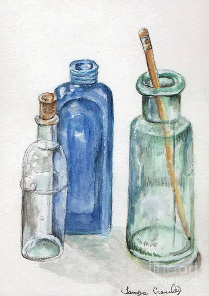 Painting - Glass Jars by Tamyra Crossley