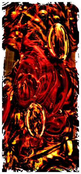 Photograph - Glass Macro Abstract Crimson Ce by David Patterson