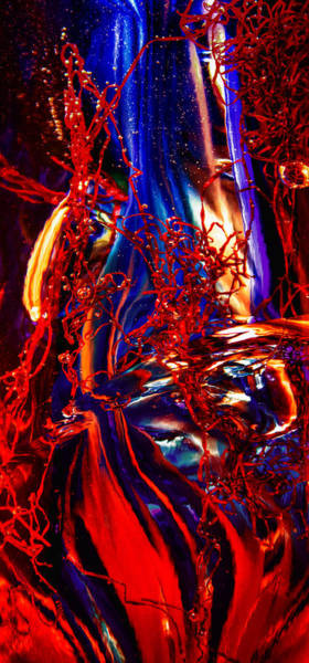 Photograph - Glass Macro Abstract Flames by David Patterson