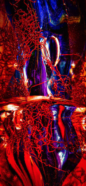 Photograph - Glass Macro Abstract M2 Ce by David Patterson