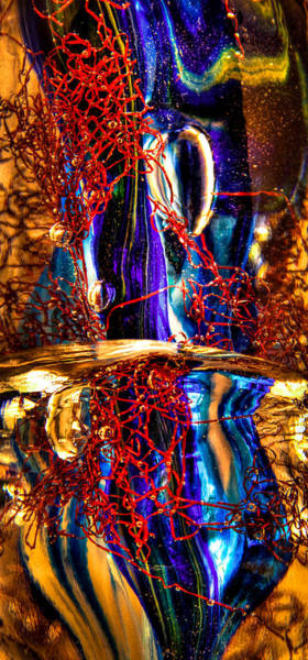 Photograph - Glass Macro Abstract M2 by David Patterson