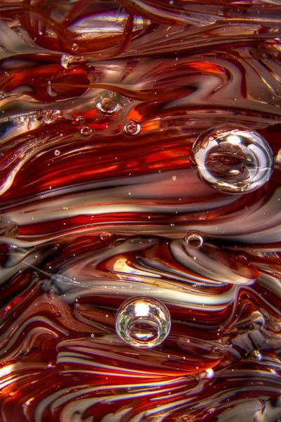 Photograph - Glass Macro Crimson And Gray II by David Patterson