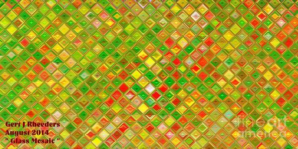 Special Offer Painting - Glass Mosaic. H A by Gert J Rheeders