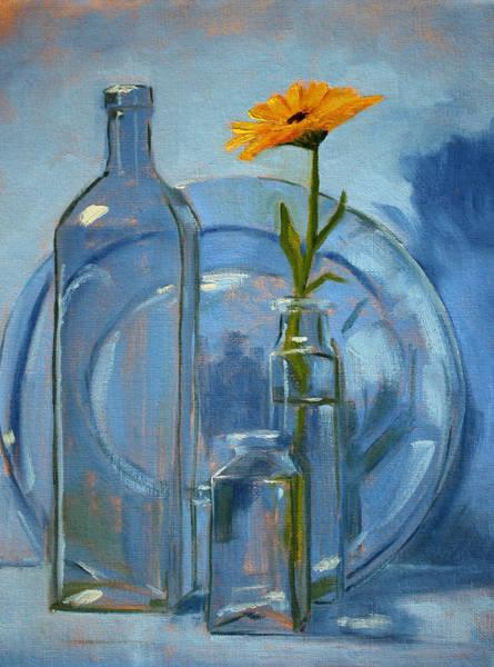 Plate Painting - Glass by Nancy Merkle