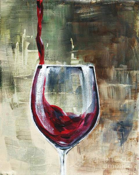 Painting - Glass Of Pouring Red by Lisa Owen-Lynch