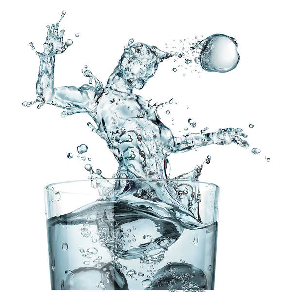 Wall Art - Photograph - Glass Of Water And Splashes by Leonello Calvetti