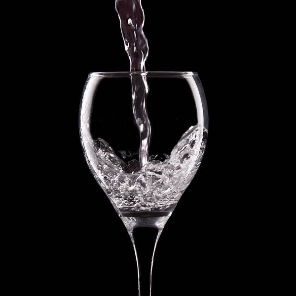 Black Photograph - Glass Of Water by Tom Mc Nemar