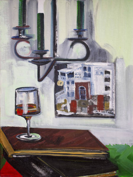 Painting - Glass Of Wine by Richard Fritz