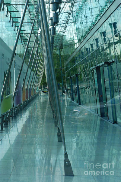 Sony Center Photograph - Glass On Glass by Andrea Simon
